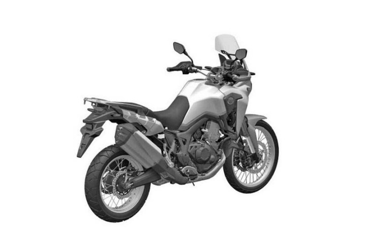 Patent drawings reveal more details of Africa Twin
