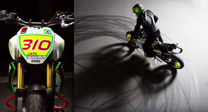 BMW builds concept G310 stunt motorcycle