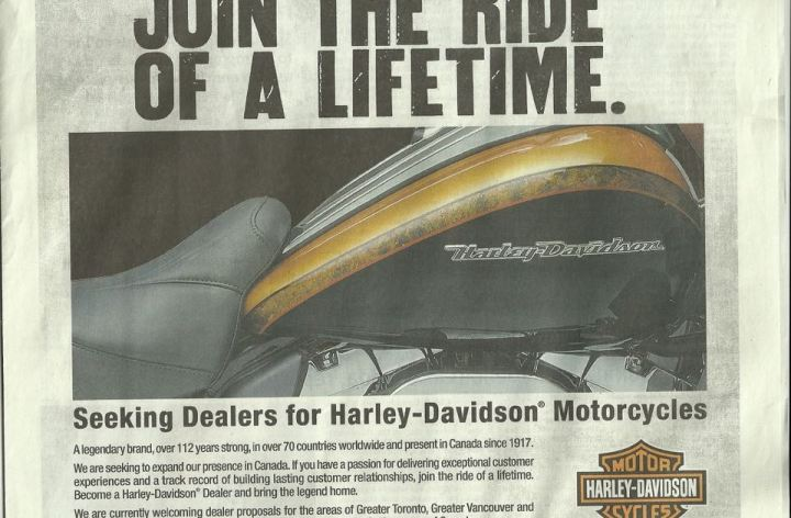 Harley-Davidson looking to add more Canadian dealers