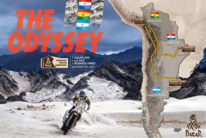 The 2017 Dakar route will visit Paraguay
