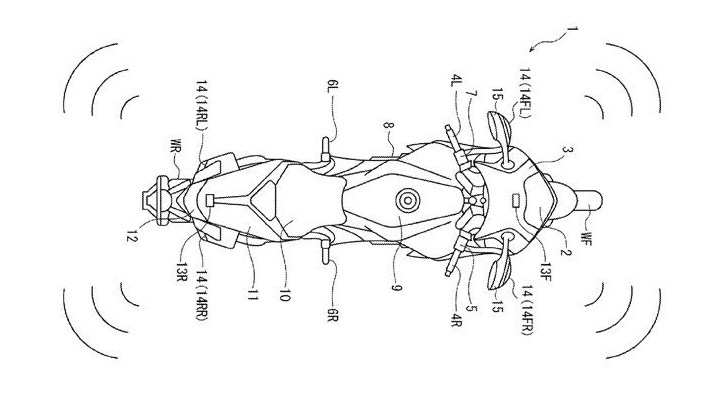 Honda is working on blind spot warning system for motorcycles