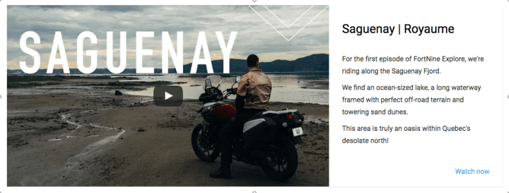 Fort Nine new video travel series