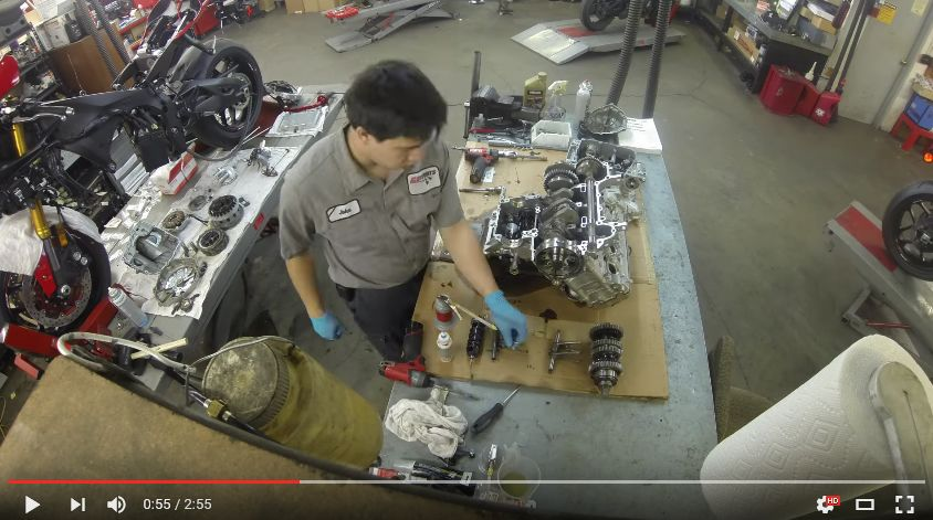 Watch this: Yamaha R1 transmission recall time-lapse