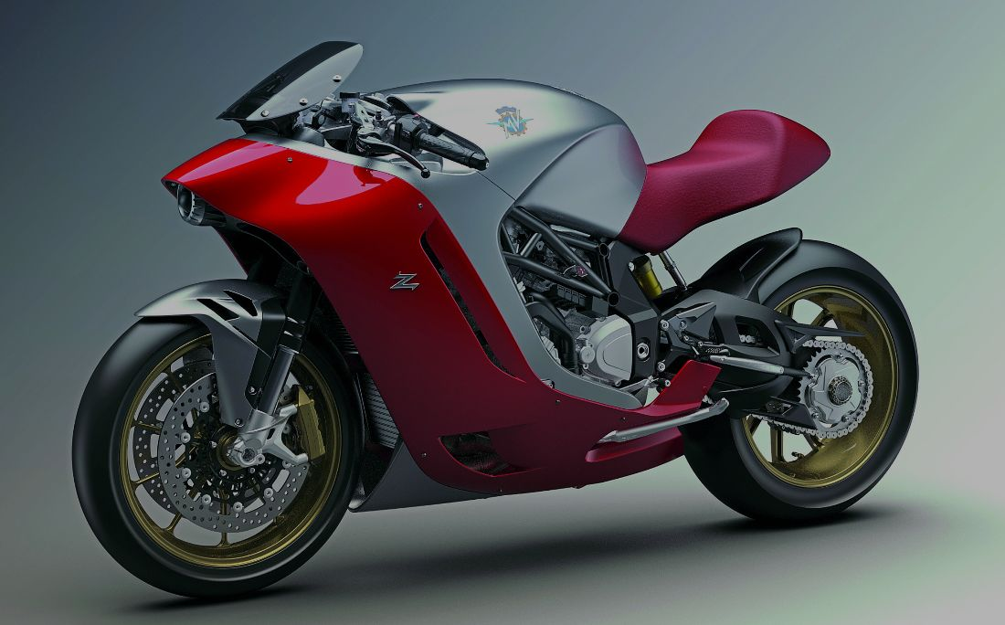 Here's that MV Agusta F4Z custom, ahead of schedule ...