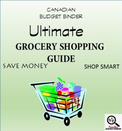 Grocery list on a budget canada