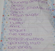 generic grocery list