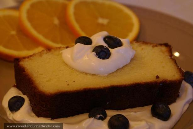 Slice of Orange Ricotta Pound Cake Mr.CBB
