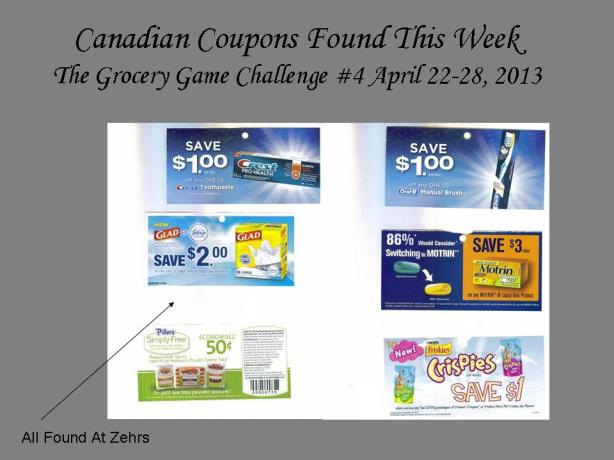 Canadian Coupons Found This Week #4 April 22