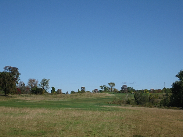Tough as nails: The second at Monck's Landing plays into the wind and up a hill.