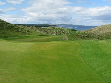 Ballybunion's Old Course closer -- looking back from the tee.