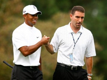 Splitsville? It was announced tonight that Tiger Woods' agent Mark Steinberg was leaving his position at IMG Sports.