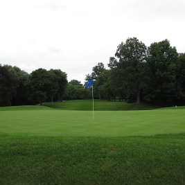 The par 3 15th from behind the green.