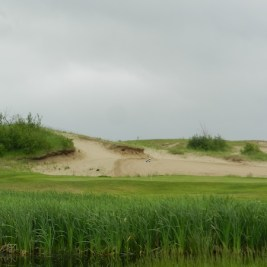The scale of the Links Course at Wolf Creek can be seen in the 11th green.