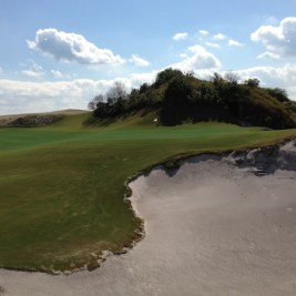 The 16th is a Biarritz -- notice the depth of the bunker.