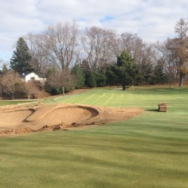 Bunker work and tree removal are ongoing at St. Thomas G&CC, one of the country's truly great golf courses.