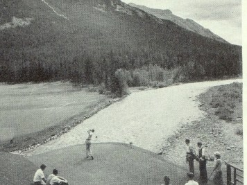 The original opening tee shot at Banff Springs.
