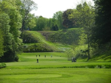 The terrific third hole at St. Thomas G&CC after trees behind the green were removed.