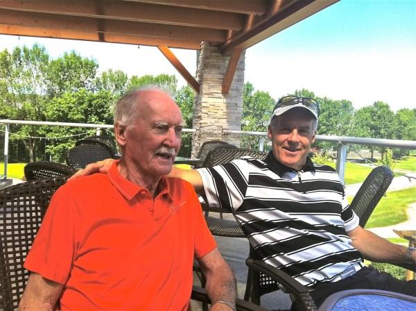 Dad at K Springs on deck