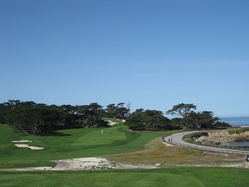 The climb to the ocean, seen here on the 14th, is terrific.