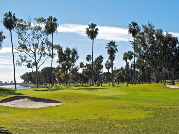 .Looking at the Par 5 second green from the third tee