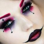 maquillaje de Harley Quinn