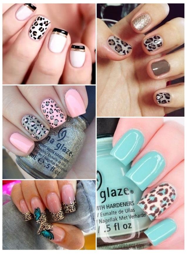 como decorar uñas de leopardo