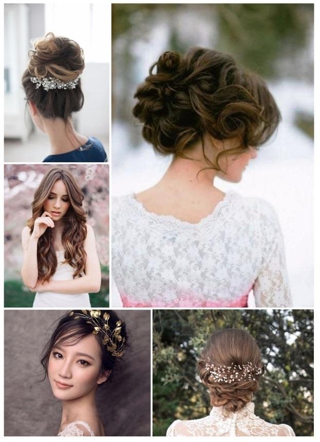 peinados de novia de noche