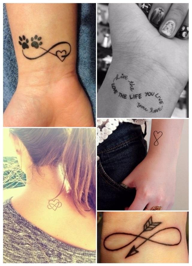 Diseños de tatuajes para mujeres de infinito