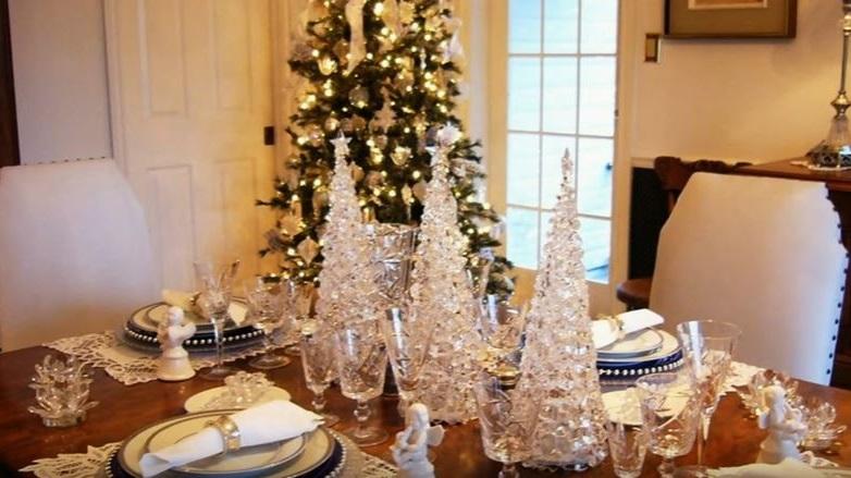 como decorar la mesa para Navidad fácilmente