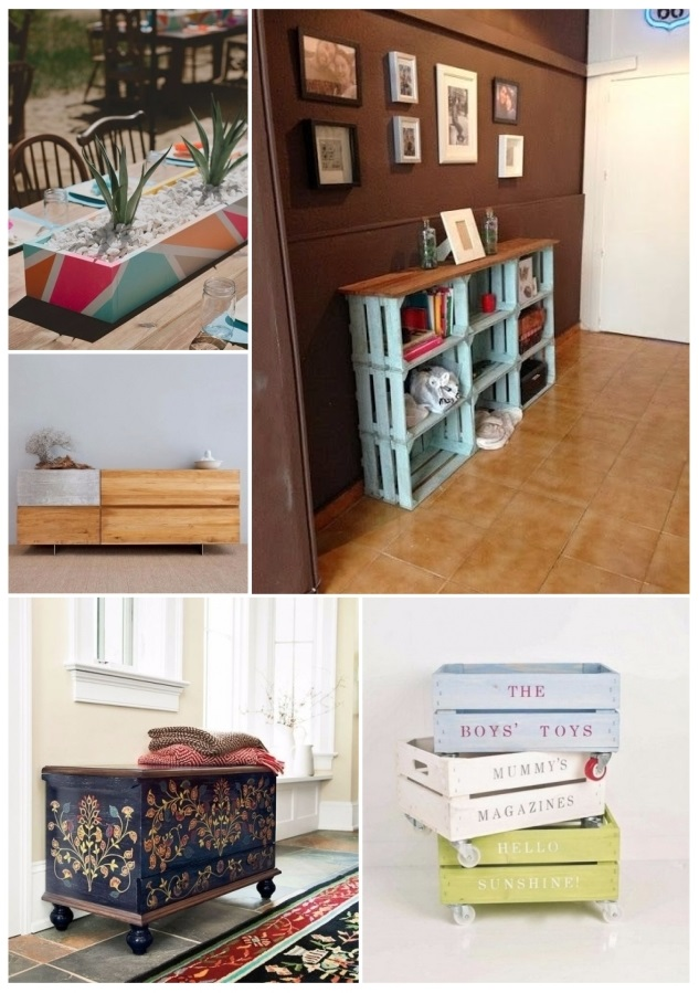 como decorar tu casa con cajas de madera económicas