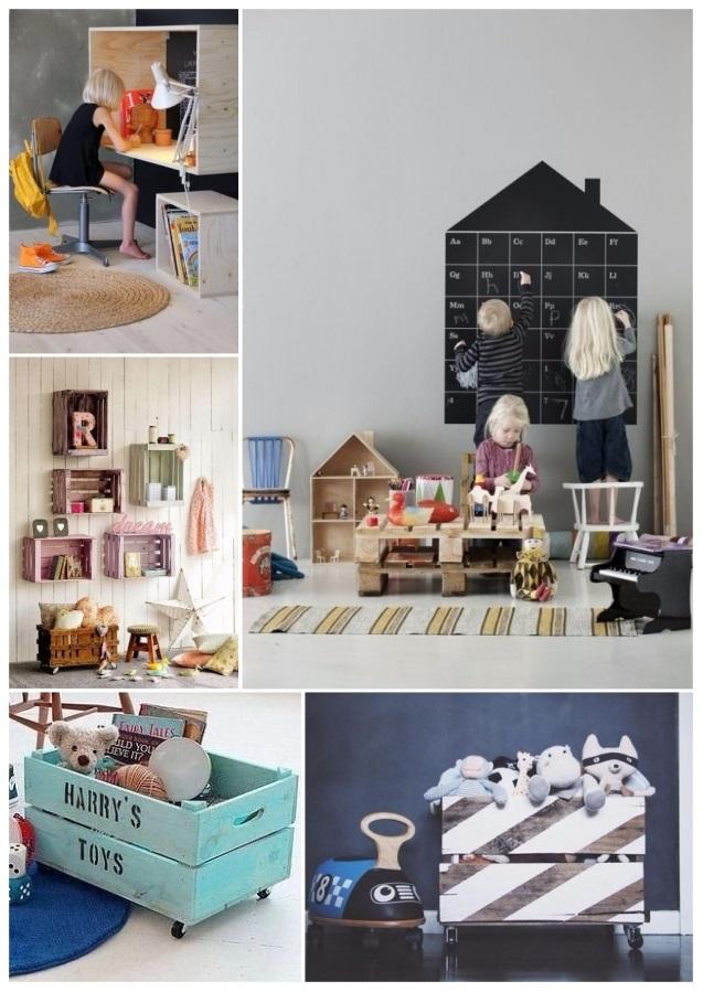 como decorar tu casa con cajas de madera reutilizadas