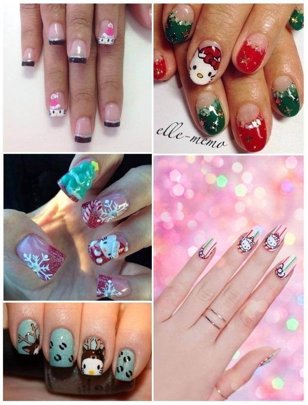 diseños de uñas de hello kitty