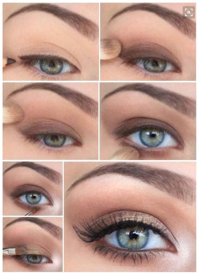 como maquillar ojos verdes ahumados