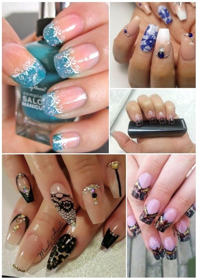 tutorial uñas con encaje