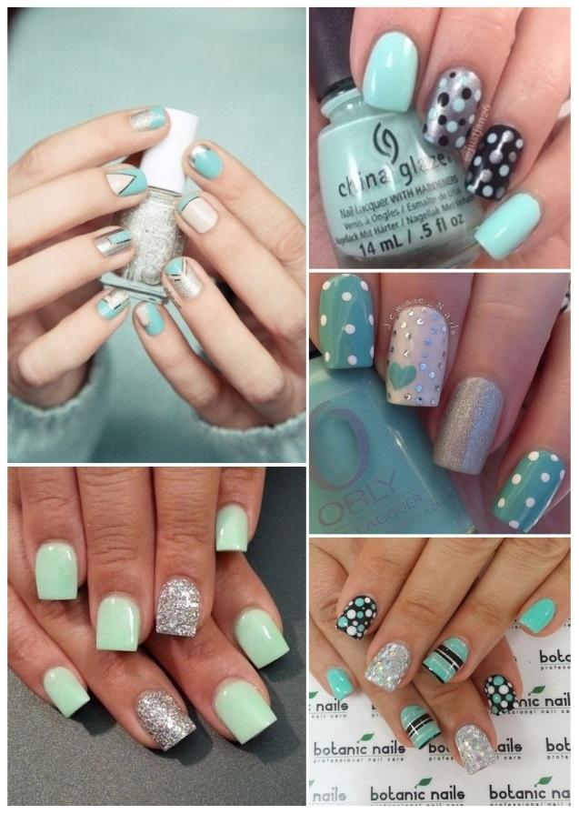 como decorar uñas verdes
