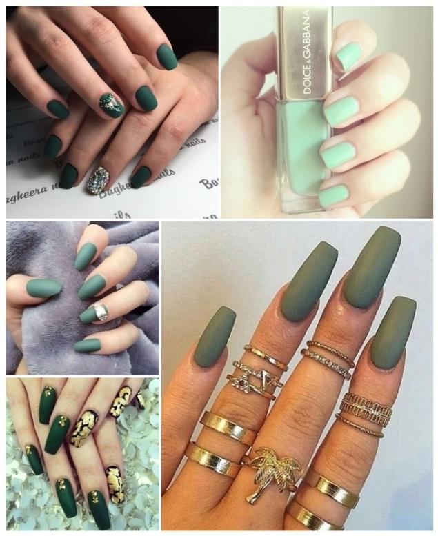fotos de uñas acrilicas verdes