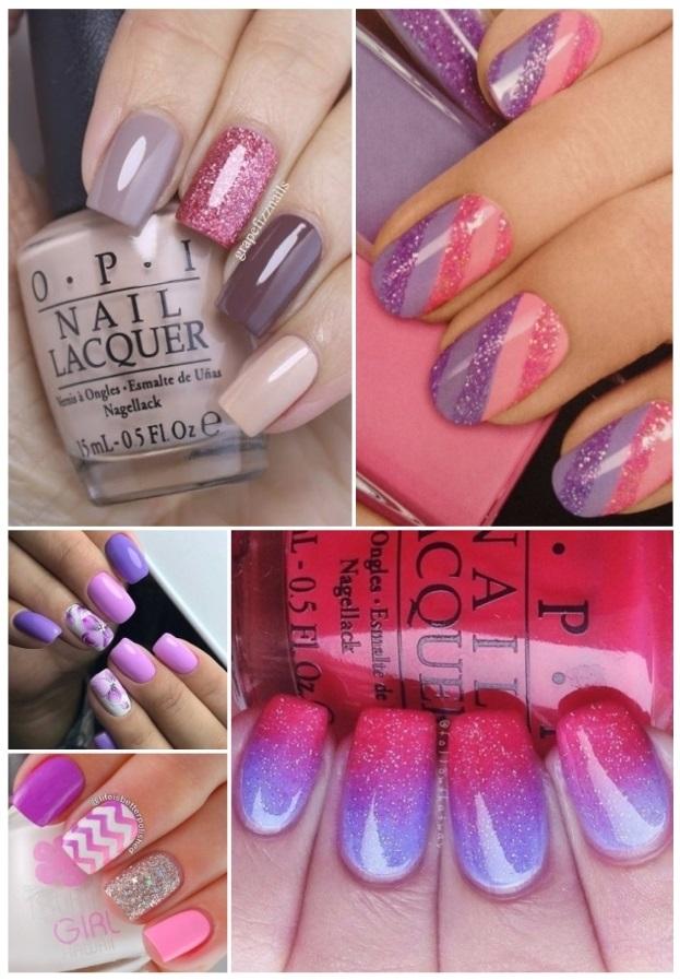 fotos de decoración de uñas en rosa