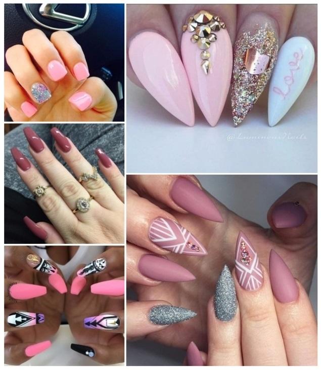 decoración de uñas en rosa fácil