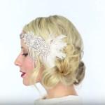 peinados con tocado para novia