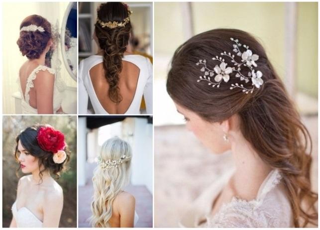 peinados de novia con tocado de flores