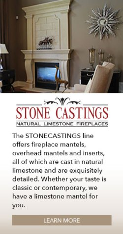 The Stonecastings line offers fireplace mantels, overhead mantels and inserts, all of which are cast in natural limestone and are exquisitely detailed. Whether your taste is classic or contemporary, we have a limestone mantel for you.