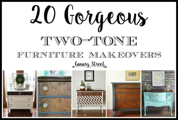20 gorgeous two-tone furniture makeovers main