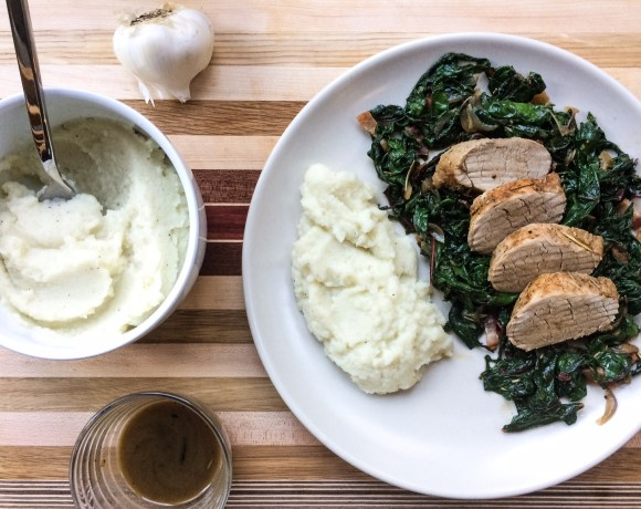 One-Pot Pork Tenderloin and Rainbow Chard