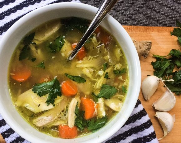 RECIPE: Slow Cooker Healing Chicken Soup | Whole30, Paleo, Low-Carb | by Candace Kennedy, Holistic Nutritionist