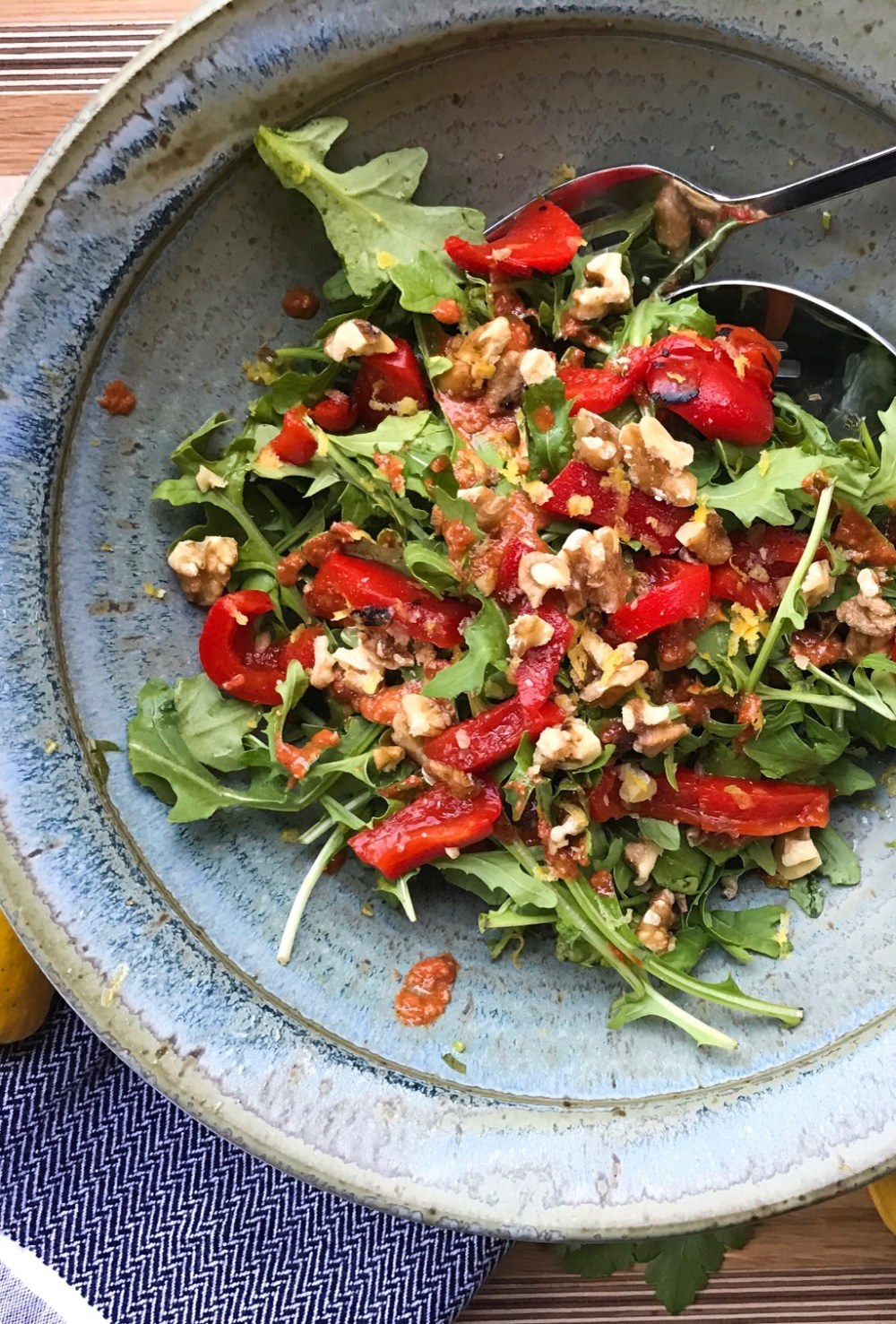 RECIPE: Arugula Salad with Muhammara Dressing | Paleo, Whole30, Low-Carb