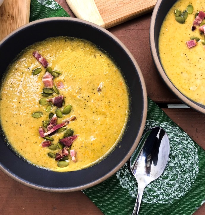 Slow Cooker Cream of Broccoli Soup   Paleo, Whole30, Low-Carb   The Real Food Effect by Candace Kennedy, Certified Nutritionist