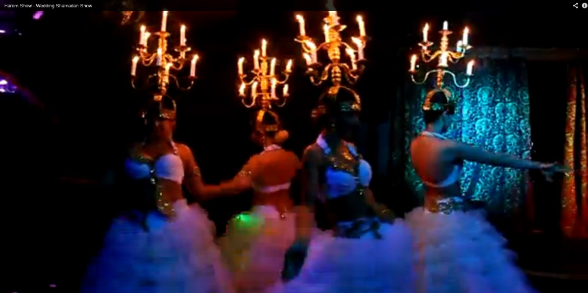 Wedding Candelabra Belly Dance