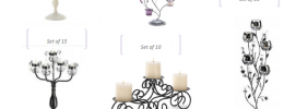 candelabras can be bought in sets
