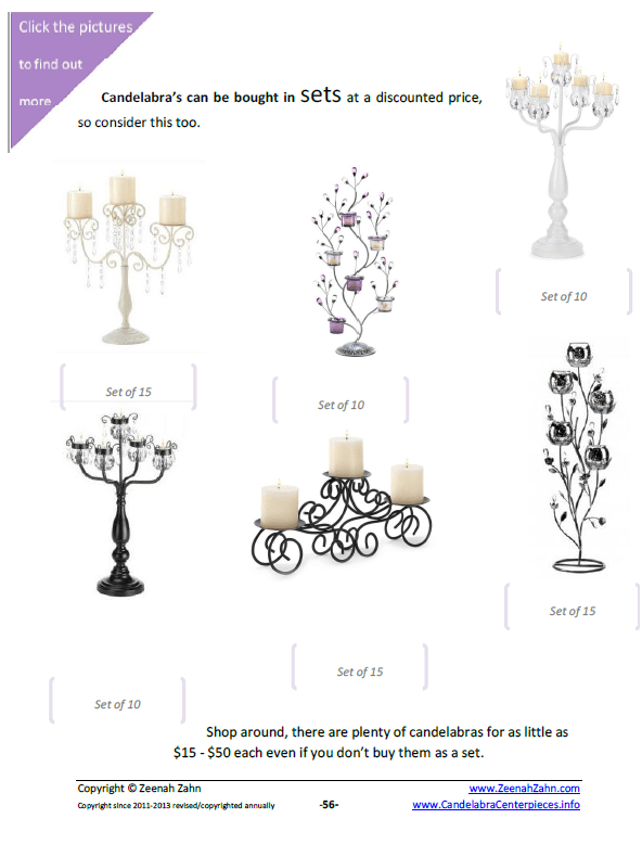 Cheap Wedding Candelabra Sets