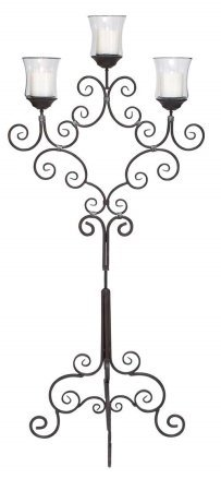 metal floor candelabra